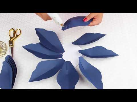 Paper Flower Tutorial Using Template #22