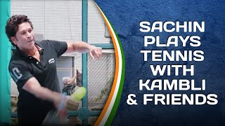 Sachin Tendulkar plays Tennis & Badminton with Vinod Kambli & friends   #SportPlayingNation