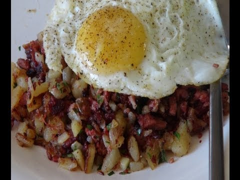 How to Make Corned Beef Hash with Sunny Side Up Eggs