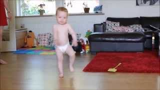Dancing baby shows off adorable moves
