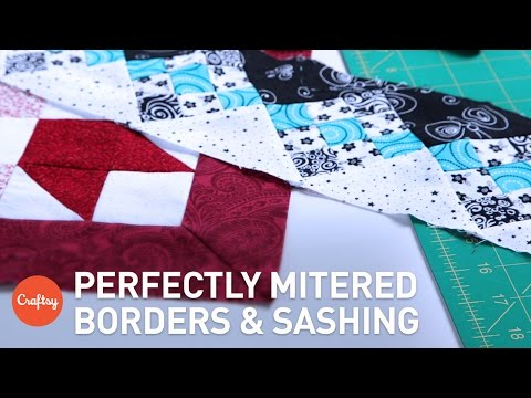 Mitered Corners for Borders & Sashing | Easy Quilting Technique with Winnie Fleming