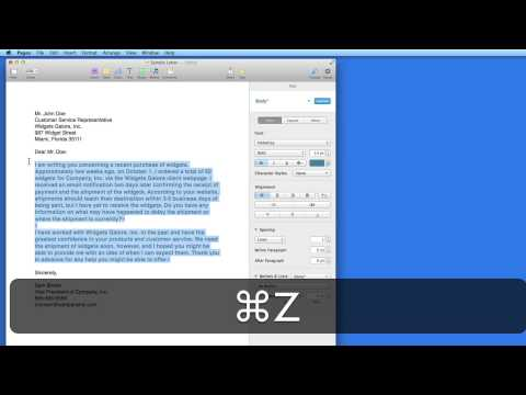 Pages for Mac Tutorial: Paragraph Styles