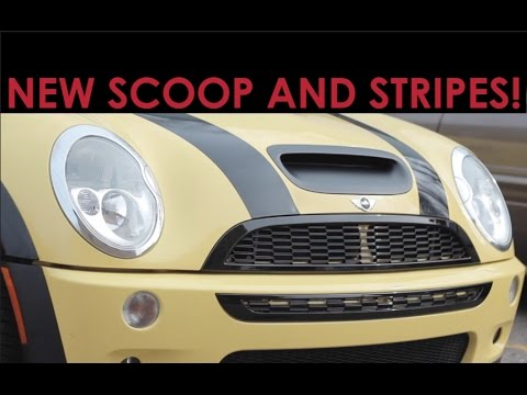 New Hood Scoop + Stripes for the MINI!