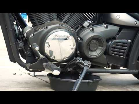 Motorcycle Oil Change: Yamaha Stryker