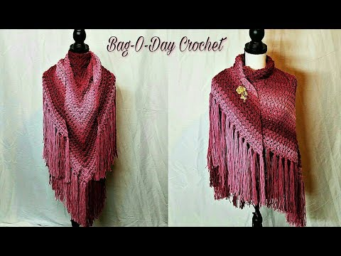 How To Crochet - Shawl | Cherry Blossom Springtime Shawl | Easy Crochet Tutorial #473