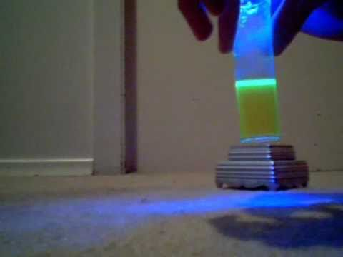 Make water glow without a black light