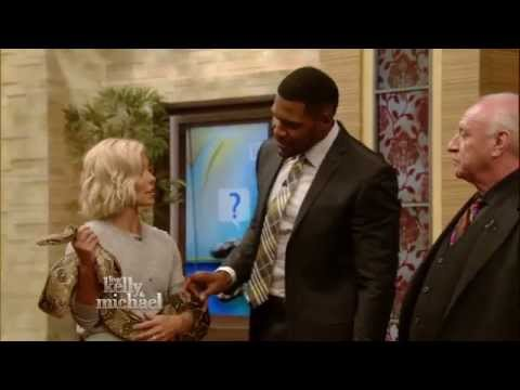 Michael Strahan Cured of Snake Fear