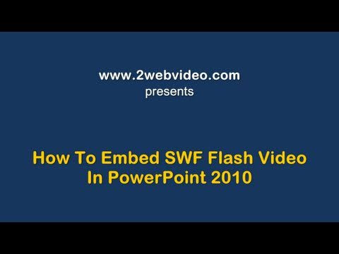 How To Embed SWF Flash In PowerPoint