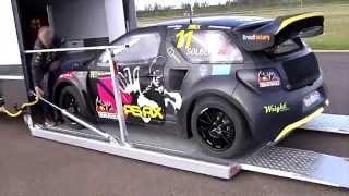 Petter Solberg DS3 RX møter Citroëns varebiler - behind the scenes