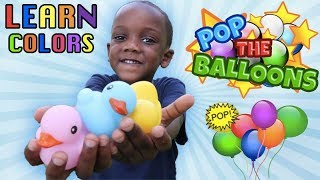 Learning Colors With Balloons And Rubber Ducky