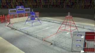 2013 FIRST Robotics Competition - Kickoff Broadcast - Video 10 of 11: Ultimate Ascent Game Animation