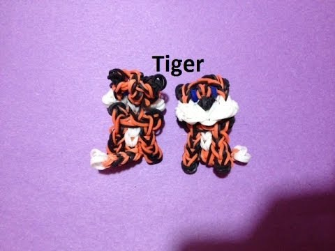 How to Make a Tiger Charm on the Rainbow Loom - Original Design