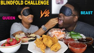 Download BLINDFOLD FOOD CHALLENGE (FRIED CHICKEN, CHEESECAKE, SHRIMP & WORMS) MUKBANG SEAFOOD | BEAST MODE Video
