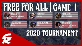 Free For All MADNESS Is BACK!!! | Game #1 - 2020 FFA Tourney | Age of Empires III