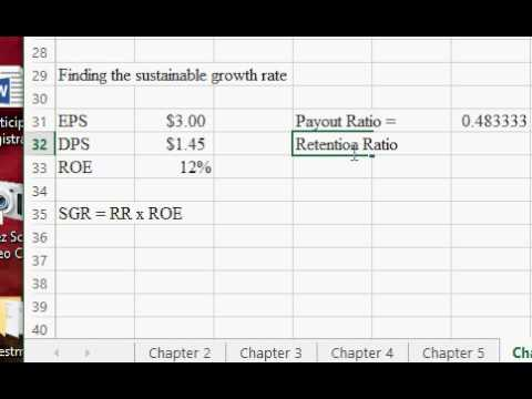 Finding sustainable growth rate