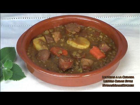 Lentejas a la Cubana- Lentils Cuban style