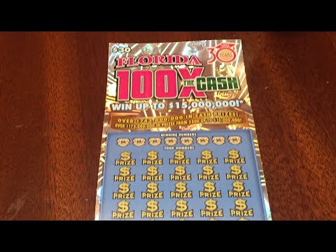 Florida Lottery: $30 100X The Cash Scratch Off Ticket