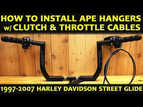 How To Install Ape Hangers on Harley Davidson Street Glide the Easy Method