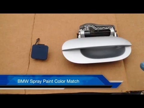How to BMW E39 Color Match Spray Paint Door Handle and Small Parts