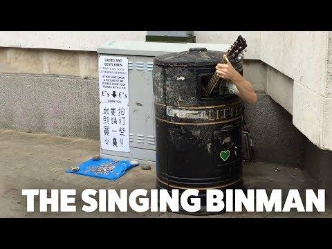 The Singing Bin Man Cambridge