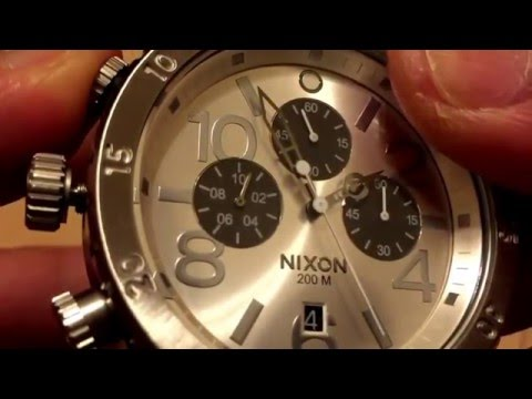 How to adjust hands position for NIXON 48-20 CHRONO