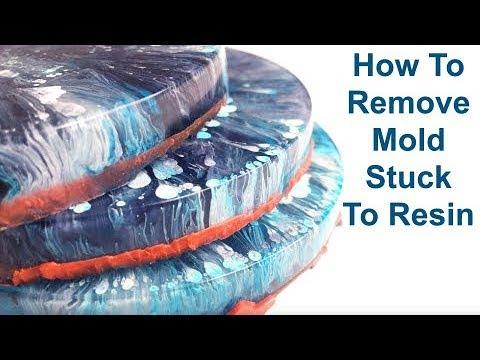 Resin Petri Dish Tutorial CLEANING STUCK MOLD
