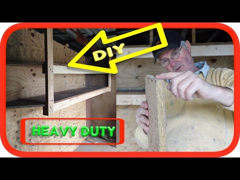 Suspended Built-In Heavy Duty Garage Shelves | How to DIY