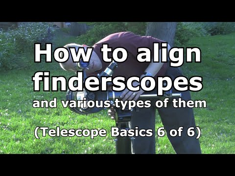 Telescope Basics 6 (of 6): Understanding telescope finders, types, and alignment