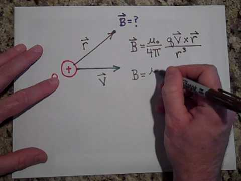 Calculating the Magnetic Field Due to a Moving Point Charge