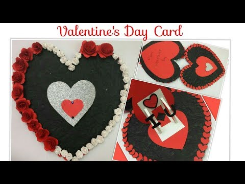 DIY Valentines day Heart Card/Heart Shaped Love Cards Pop up Handmade Greeting Cards for Boyfriend
