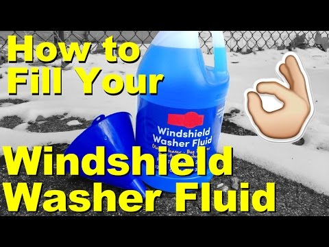 How to Fill Windshield Washer Fluid