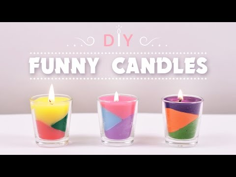 DIY Funny Candles | How to make Color Crayons Candles