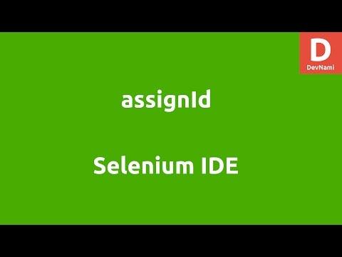 Selenium IDE assignId