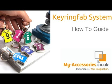 KeyringFab.co.uk : How to make a keyring. Includes cutting and assembly.