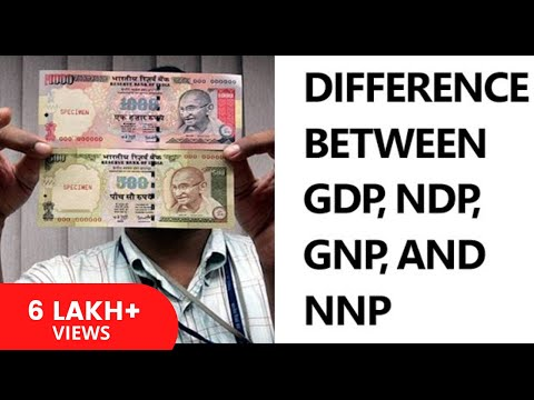 [Hindi] Difference between GDP, NDP, GNP, and NNP