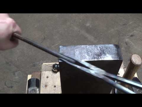 Forging Bolt Tongs Out Of Harbor Freight Pliers