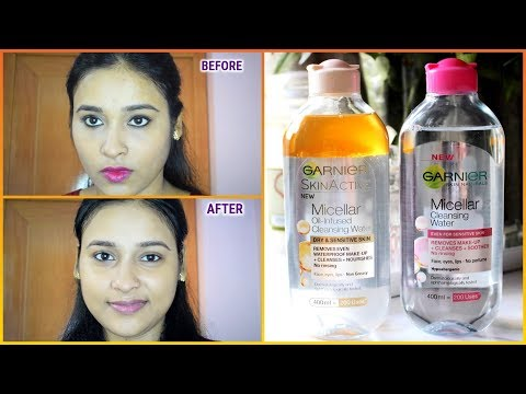 #NEW Garnier Miceller Water Review And Demo/Removes Makeup In 1 Swipe