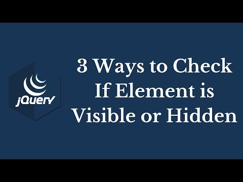 3 Ways to Check if Element is Visible or Hidden Using jQuery