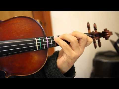 ABRSM Grade 5 Scales B harmonic minor scale demo with colour labels