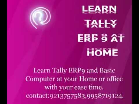 learn tally erp and basic computer at home or office with ease time.
