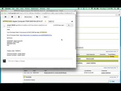 Salesforce in Action - Purchase Order Workflow