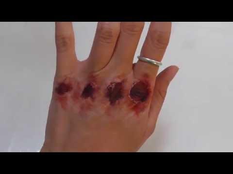 Injury Makeup: Bloody Knuckles