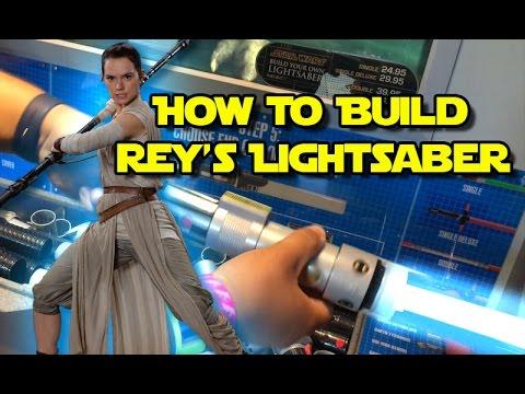 Star Wars   Build your own Rey's Lightsaber toy at Disneyland