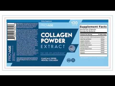 Collagen Powder Supplement Label Design