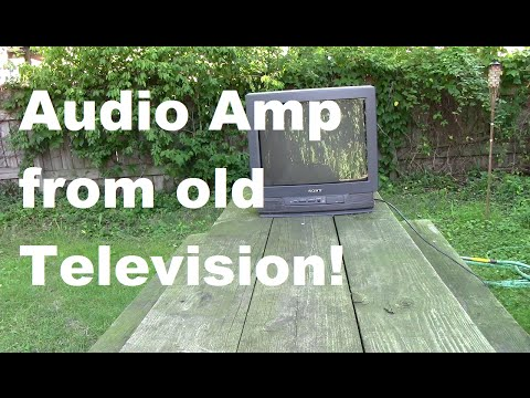Audio Amplifier COMPLETELY from an Old Television!