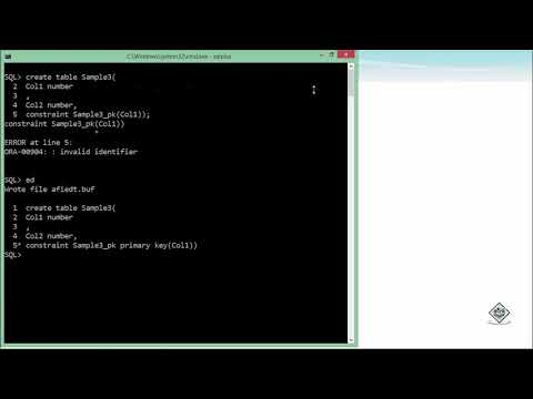 Oracle - SQL - Primary Key Constraint