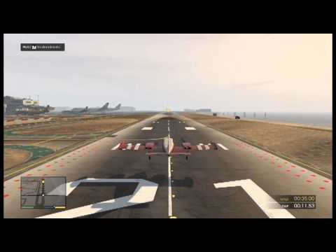GTA 5 Flight School  Take off, Runway Landing, Inverted Flight