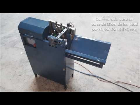 Enderezadora y cortadora automática de alambre recocido / Wire straightening and cutting machine