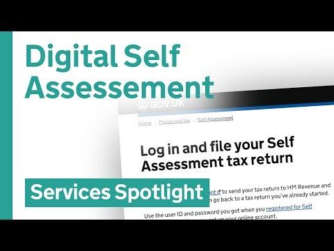 Sign up for Digital Self Assessment online