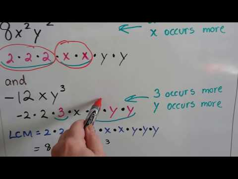 Algebra I #10.5c, Find the LCM, Least Common Multiple of Rational expressions